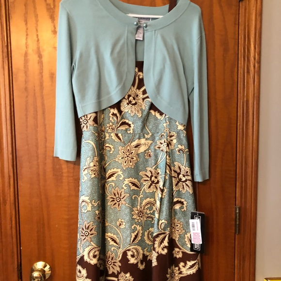 b8e61fecdb788 free shipping brand new dress with cardigan. nwt. jessica howard fda45 8718d